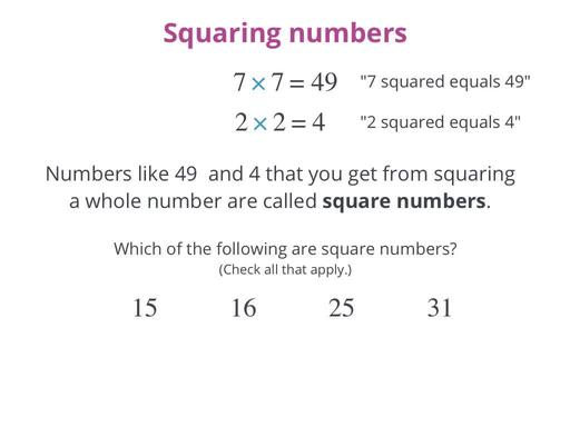 Squaring A Number