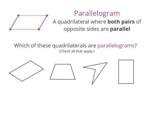 Quadrilaterals Geometry School Yourself